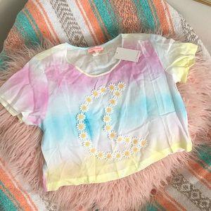 New Flower moon tye dye top